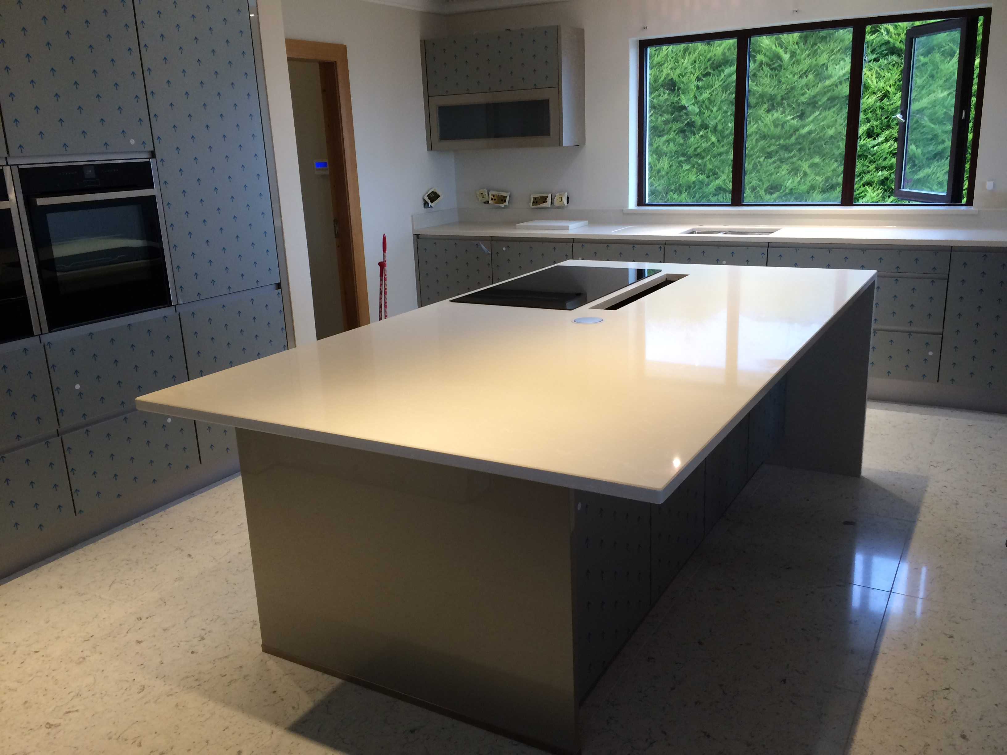 Residential Kitchen Using Restaurant Work Tables