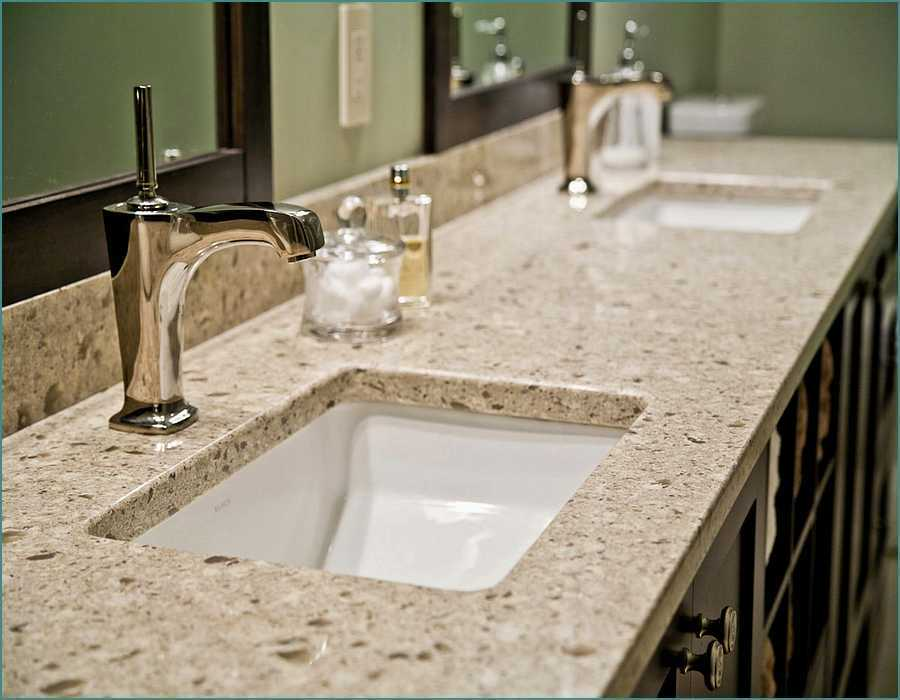 quartz worktop bathroom