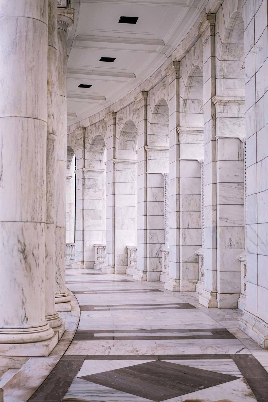ancient marble hallway
